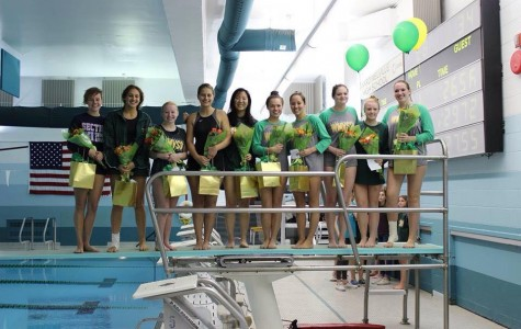 A Bittersweet Farewell on Girl's Varsity Swimming and Diving Senior Night