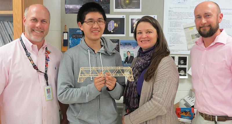 Andrew Zhang Wins BNL Bridge Building Contest