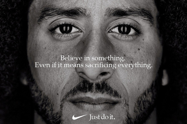 Colin+Kaepernick+Nike+Ad%3A+%22Believe+in+something.+Even+if+it+means+sacrificing+everything.%22