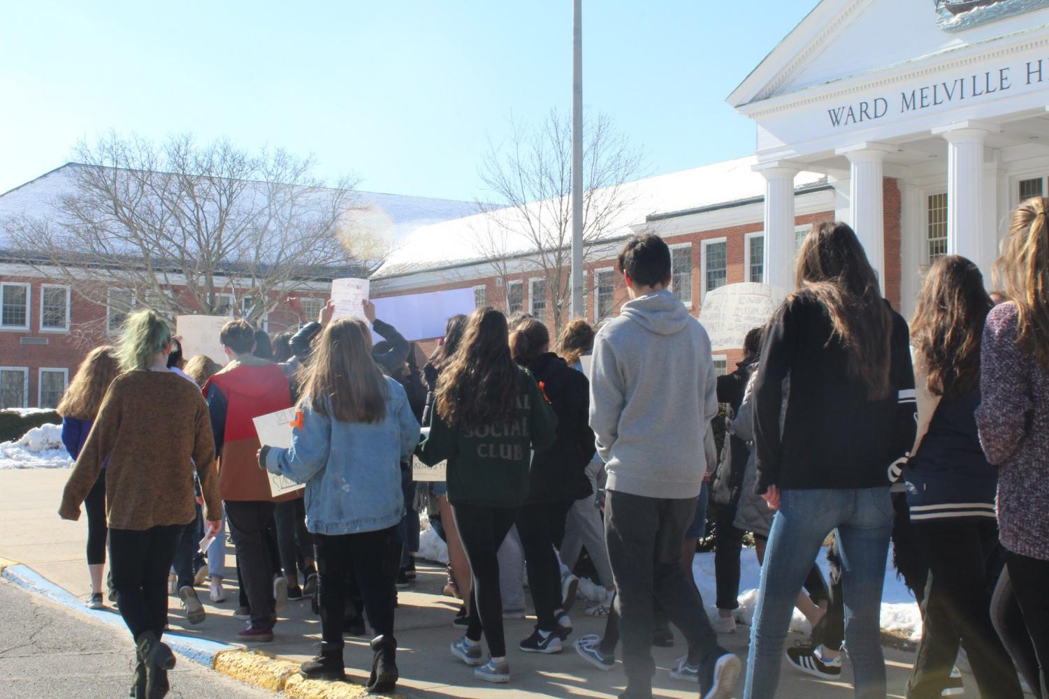 The Ward Melville Walkout, March 2018