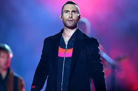 Adam Levine from Maroon Five performs at the Super Bowl Halftime Show.
