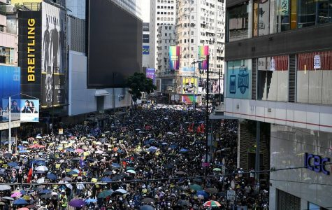 People march in Hong Kong on October 1st, 2019.