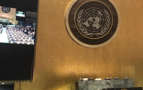 The UN General Assembly Headquarters in New York City